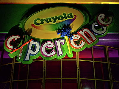Photograph - Crayola Experience At Night by Denise Mazzocco