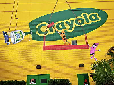 Photograph - Crayola Mural by Denise Mazzocco