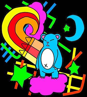 Crayon Bear Original by Cassidy Haas