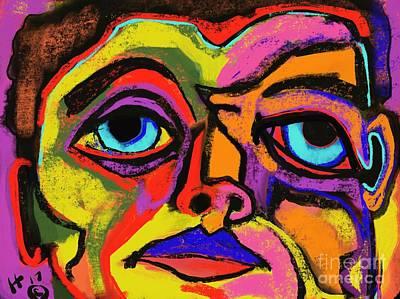 Digital Art - Crayon Bob by Hans Magden