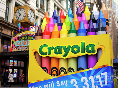 Photograph - Crayon Colors by John Rizzuto