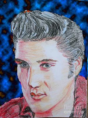 Elvis Presley Drawing Drawing - Crayon Elvis by Lyric Lucas