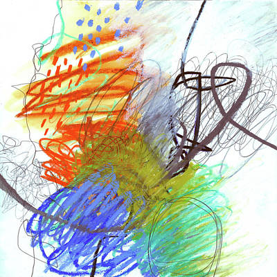 Painting - Crayon Scribble #4 by Jane Davies