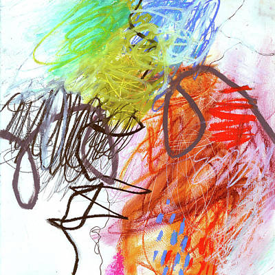 Painting - Crayon Scribble#2 by Jane Davies