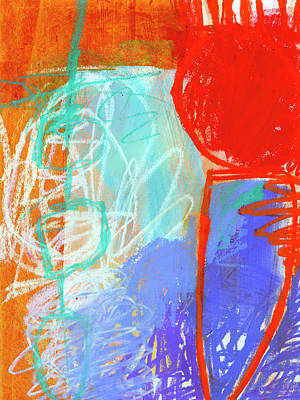 Painting - Crayon Scribble#6 by Jane Davies