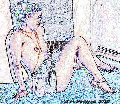 Digital Art - Crayon Shylah by David Skrypnyk