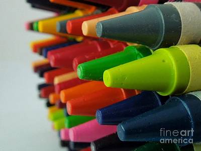 Photograph - Crayons by Chad and Stacey Hall