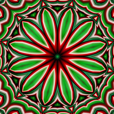 Crazy Christmas Flower Art Print