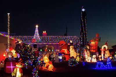 Photograph - Crazy Christmas Lights 1 by Bonnie Follett