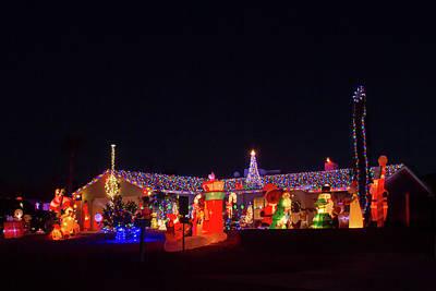 Photograph - Crazy Christmas Lights 2  by Bonnie Follett