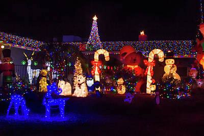 Photograph - Crazy Christmas Lights 3  by Bonnie Follett