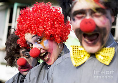 Crazy Circus Clowns Art Print