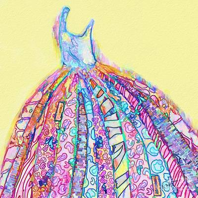 Mixed Media - Crazy Color Dress by Andrea Auletta