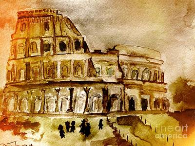 Painting - Crazy Colosseum by Denise Tomasura