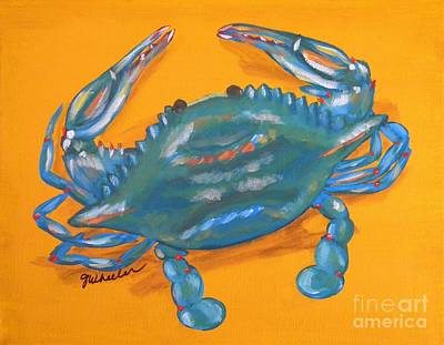 North Sea Painting - Crazy Crab by JoAnn Wheeler