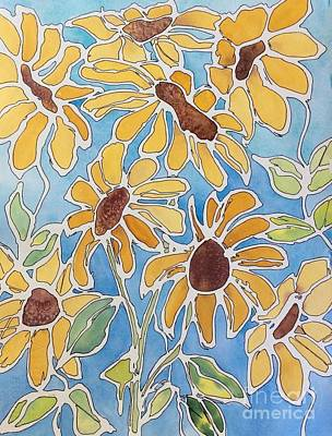 Painting - Crazy Daisies by Barbara Tibbets