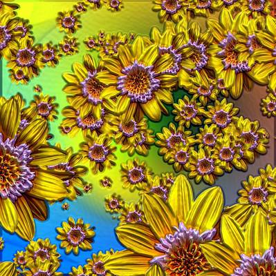 Photograph - Crazy Daisies by Nick Kloepping