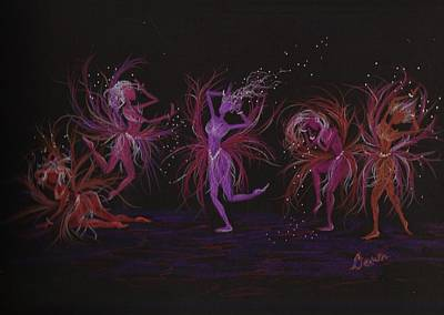 Art Print featuring the drawing Crazy Day At Work Dance by Dawn Fairies