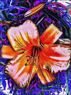 Mixed Media - Crazy Day  Lily  Copyright  Mary Lee Parker 17,  by MaryLee Parker
