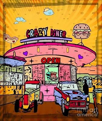 Digital Art - Crazy Diner By Nico Bielow by Nico Bielow