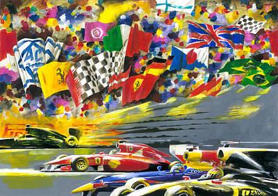 Graphics Painting - Crazy F1 Race by Tigran Mangasaryan