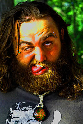 Photograph - Crazy  Face -  Ver. 1 by William Meemken