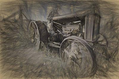 Drawing - Crazy Farmer by Joe Sparks