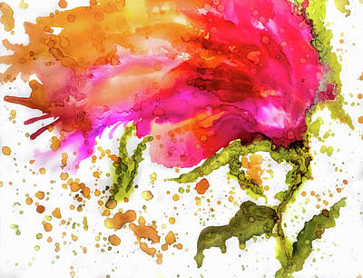 Painting - Crazy Flower 6 by Lilia D