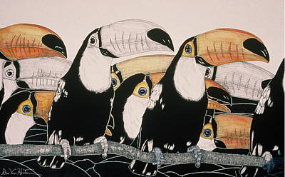 Painting - Crazy For Toucans by Dee Van Houten
