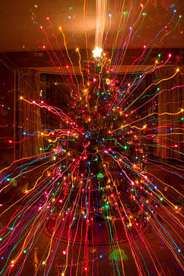 Pink Photograph - Crazy Fun Christmas Tree Lights Abstract Print by James BO  Insogna