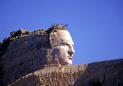 Mount Rushmore Photograph - Crazy Horse In Progress by Buddy Mays