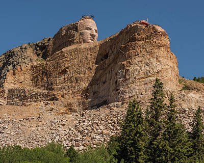 Photograph - Crazy Horse Memorial by Brenda Jacobs