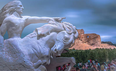 Photograph - Crazy Horse Memorial by Mark Dunton