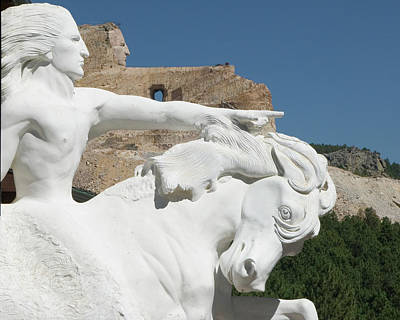 Horses Photograph - Crazy Horse Monument by Michael Barry
