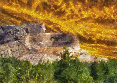 Demolition Mixed Media - Crazy Horse Monument Pa by Thomas Woolworth