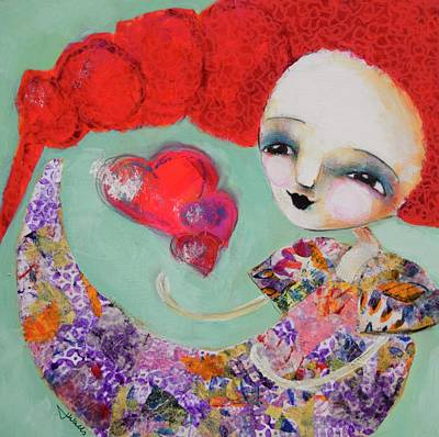 Wall Art - Mixed Media - Crazy Little Thing Called Love by Jen Walls
