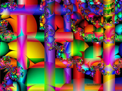 Colorful Abstract Digital Art - Crazy Love by Robert Orinski