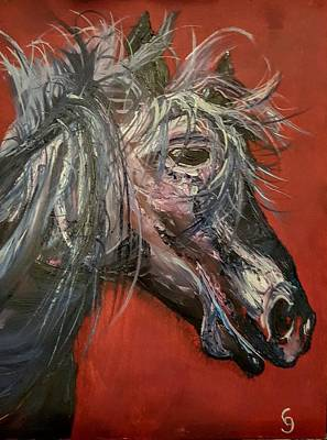 Painting - Crazy Mare       4.2018 by Cheryl Nancy Ann Gordon