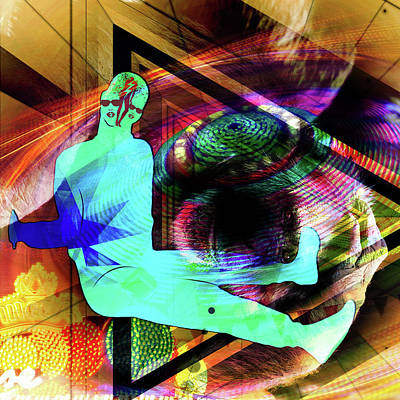 Digital Art - Crazy Monkey by Tommytechno Sweden