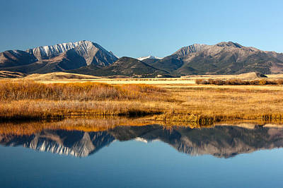 Crazy Mountain Reflections Art Print by Todd Klassy