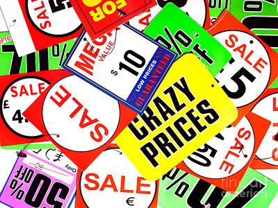 Crazy Prices Art Print
