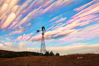 Art Print featuring the photograph Crazy Wild Windmill by Bill Kesler