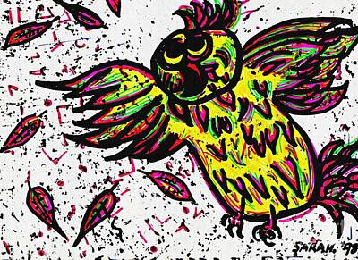 Drawing - Crazybird by Sarah Loft