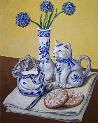 Painting - Cream And Sugar by Laura Aceto