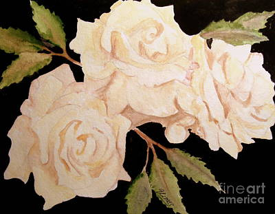 Painting - Cream Colored Roses by Carol Grimes