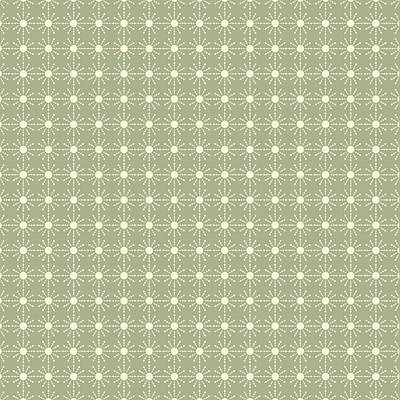 Digital Art - Sage Green And Cream Geometric Flower Pattern by Lynn-Marie Gildersleeve