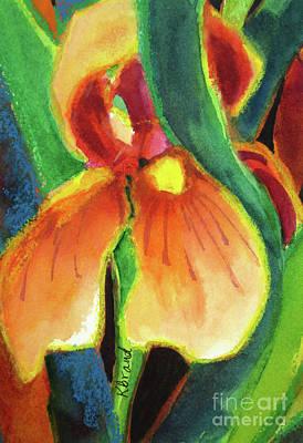 Painting - Cream Iris And Rust by Kathy Braud