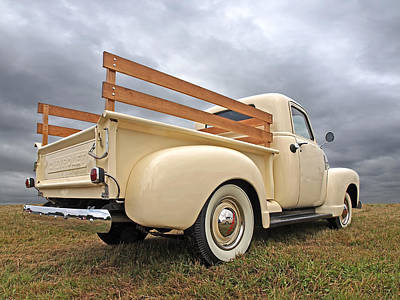 Photograph - Cream Of The Fifties - Chevy Truck 1950 by Gill Billington