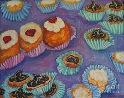 Cream Puffs Art Print by Sherri Bramlett