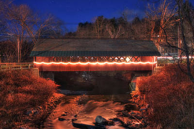 Photograph - Creamery Covered Bridge - Brattleboro Vermont by Joann Vitali